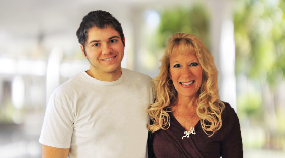Mary Lou Johnson Evans and her son Joshua, who is living with an IRD